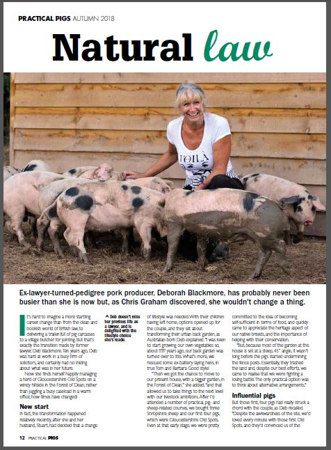 More headlines – Practical Pigs magazine Autumn 2018